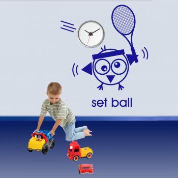 Vinilo decorativo Reloj Set Ball