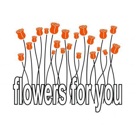 Vinilo decorativo Flowers For You de DEKOTIPO