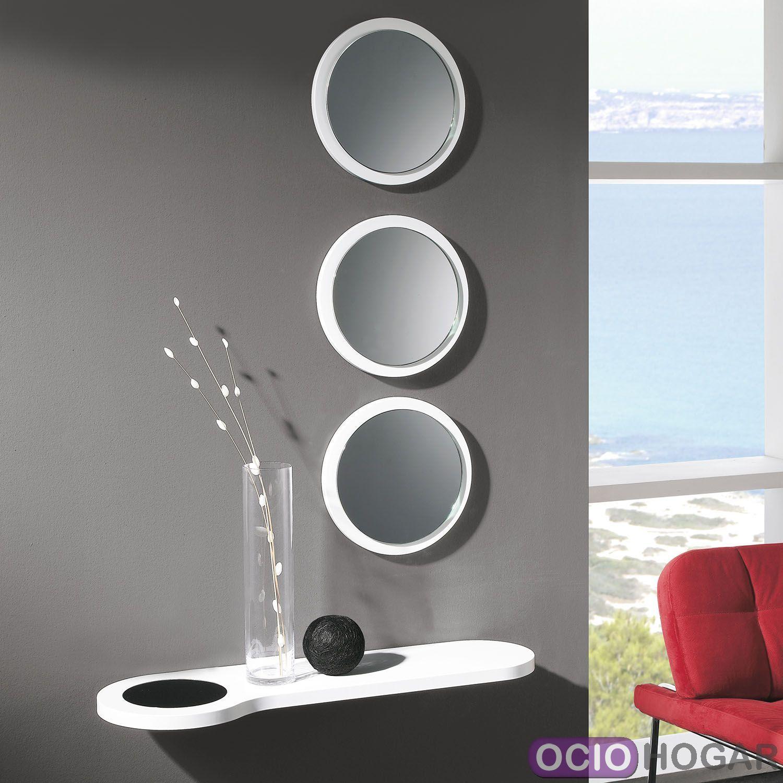 Conjunto de consola y espejo bubble for Espejos plateados para salon