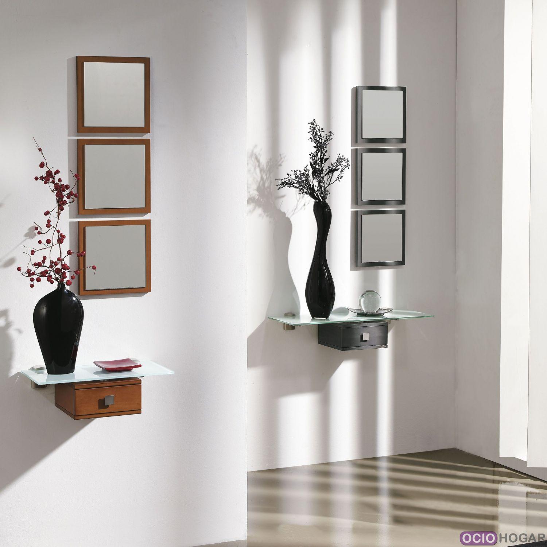 Recibidor aircrystal muebles que flotan en tu entrada - Consolas recibidor modernas ...
