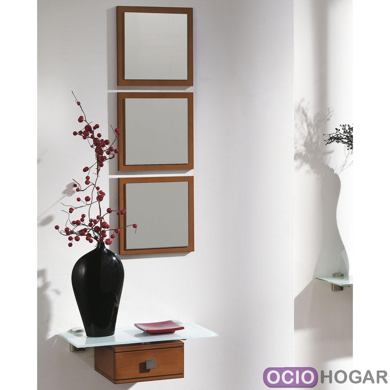 Recibidor aircrystal muebles que flotan en tu entrada - Consola pequena recibidor ...