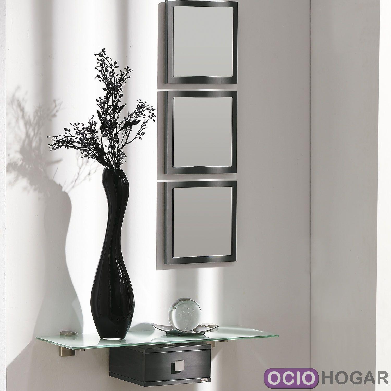 Recibidor aircrystal muebles que flotan en tu entrada for Espejos de pared baratos