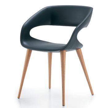 Shape, silla con un respaldo nada convencional