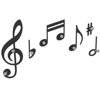 Verdi, notas musicales para colgar tus abrigos