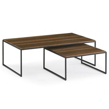Mesa Puzzle, madera y metal