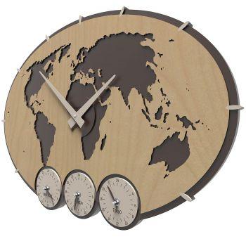Greenwich, la hora en varias ciudades del mundo en un mismo reloj