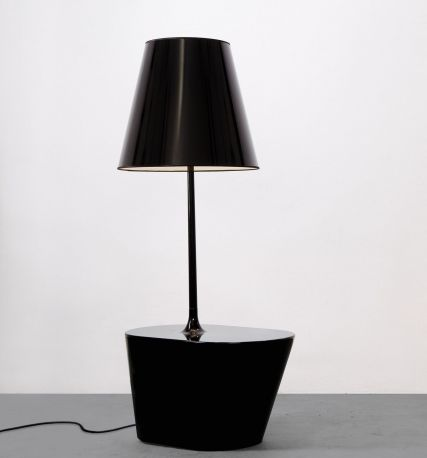 Lámpara América color negro charol
