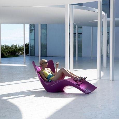 Tumbona de diseño Surf de Vondom color pink