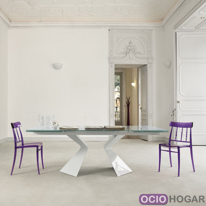 Mesa de comedor prora de bonaldo for Mesas de cristal extensibles para comedor