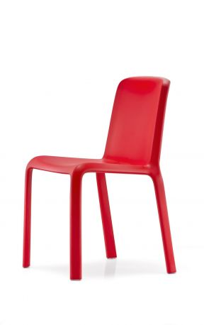 Silla Snow de Pedrali en color rojo