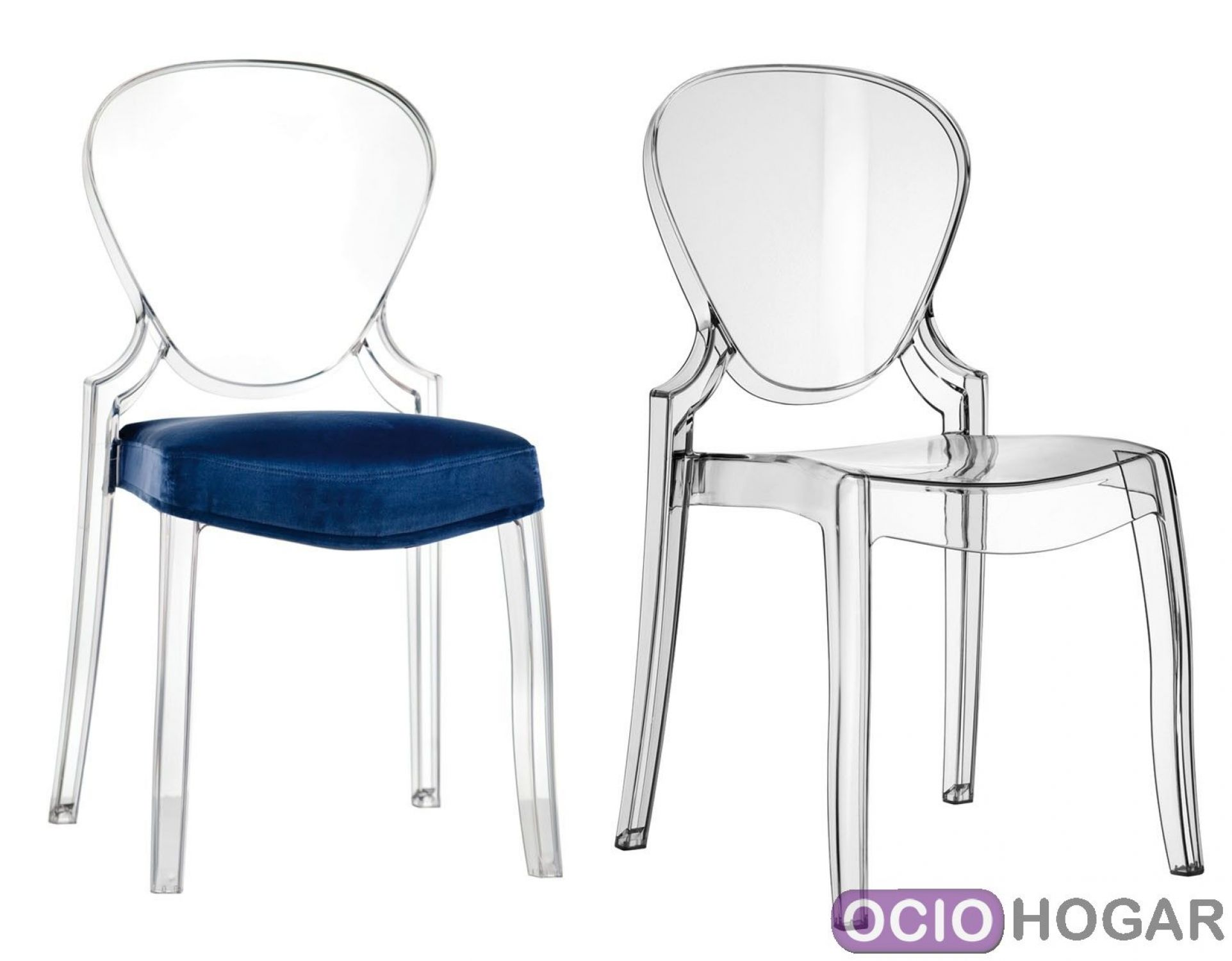 sillas de comedor transparentes de estilo moderno