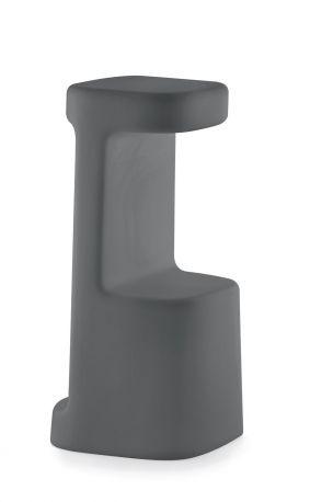 Taburete Serif de Pedrali en gris antracita