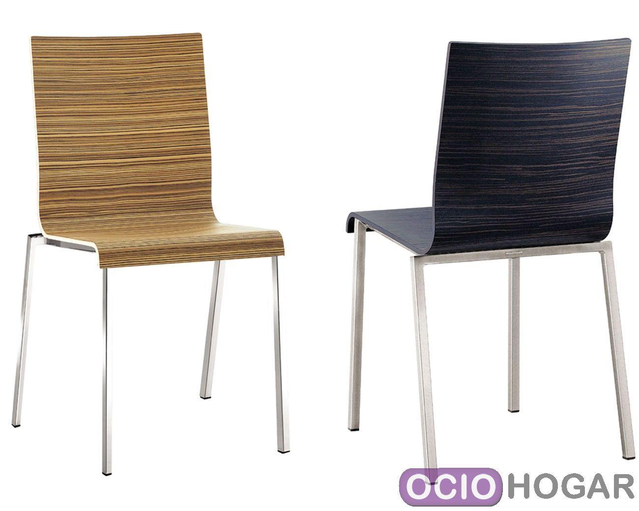 Sillas de madera para el comedor de estilo moderno for Sillas wengue comedor