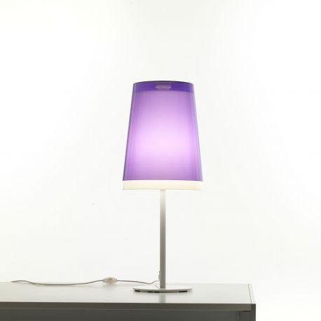 Lámpara de mesa L001TA Pedrali difusor exterior violeta