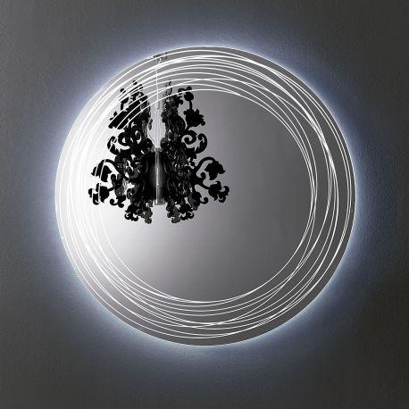 Espejo de diseño Vértigo con iluminación LED Sovet Italia