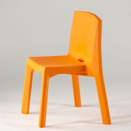 Silla Q4 SLIDE Design naranja