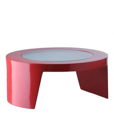 Mesita de centro Tao SLIDE Design en rojo lacado
