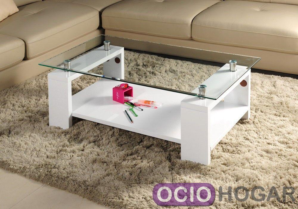 Mesa de centro fabricada en mdf y lacada en blanco brillo for Mesa cristal milanuncios