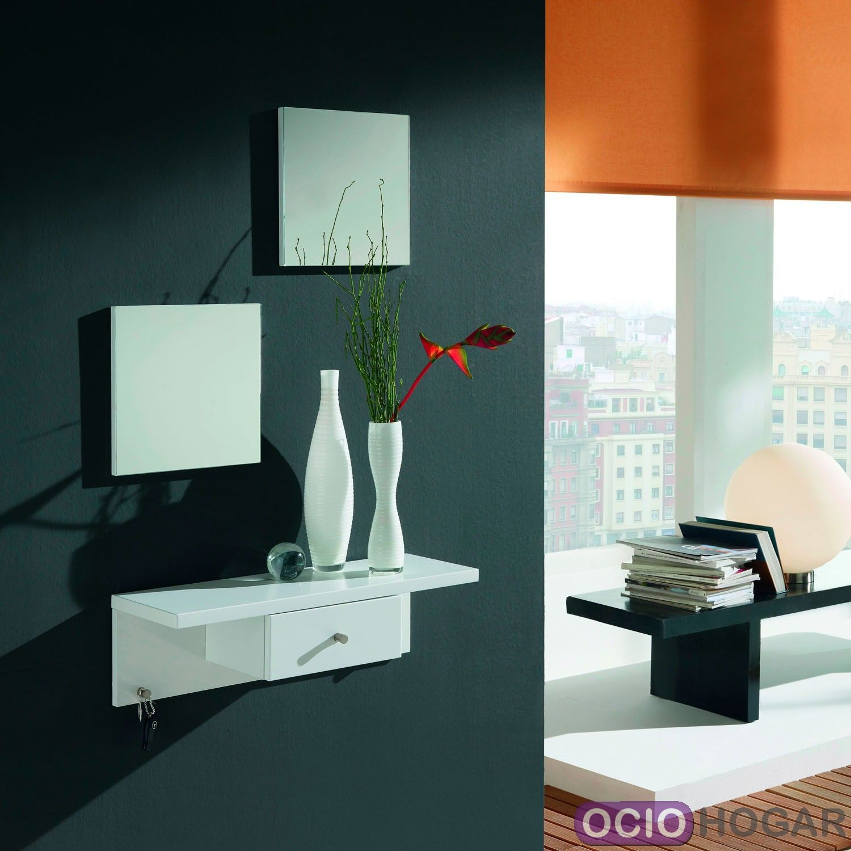 Set 2 espejos modernos square dissery for Espejos modernos para recibidor