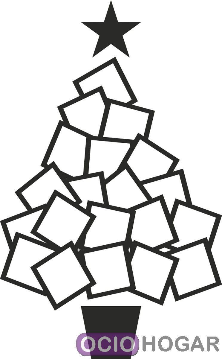 Vinilo rbol de navidad papertree 3 dekotipo compra - Arbol navidad diseno ...