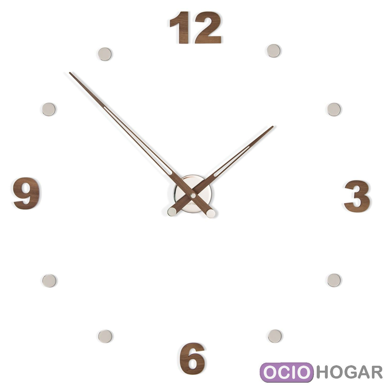 Reloj de pared en madera axioma con n meros nomon - Reloj pared original ...