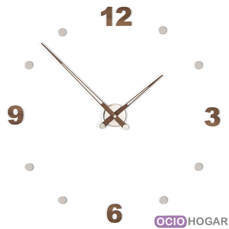 Reloj de pared en madera axioma con n meros nomon - Relojes de pared diseno ...