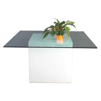 Mesa de jardín con luz Square