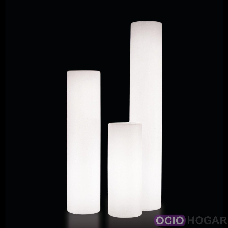 L mpara cilindro de exterior fluo slide design for Lamparas de exterior de diseno