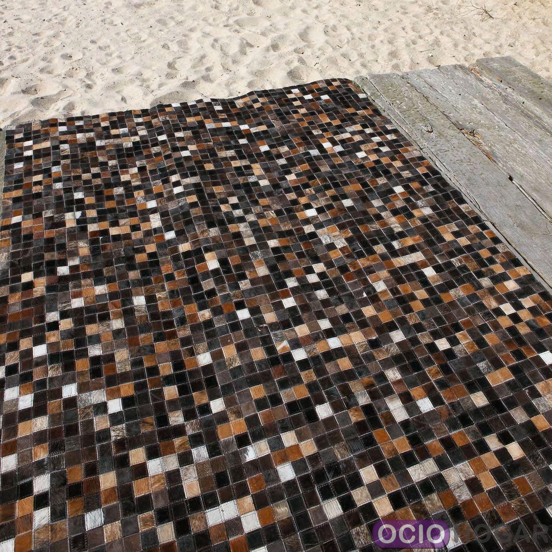 Alfombra moderna piel quadra multi carving for Imagenes alfombras modernas