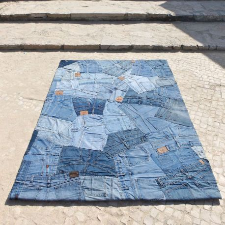 Alfombra moderna jeans back carving - Carving alfombras ...