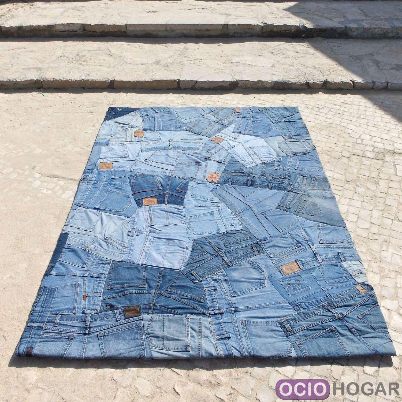 Alfombra moderna jeans back carving Alfombras grandes modernas