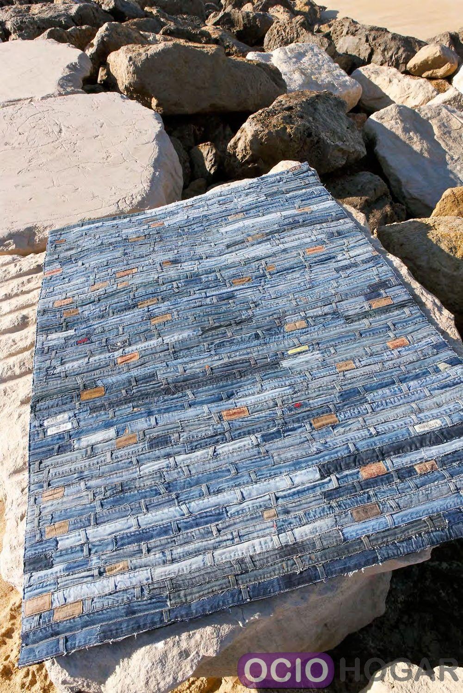 Alfombra moderna jeans belt carving - Carving alfombras ...