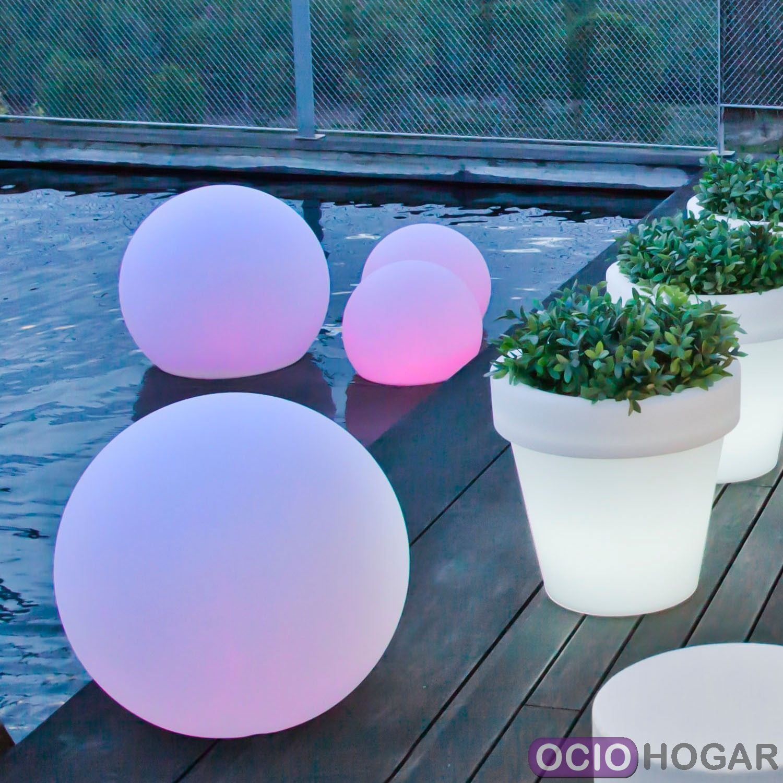 Bola con luz bulylight new garden for Luz de led para exterior