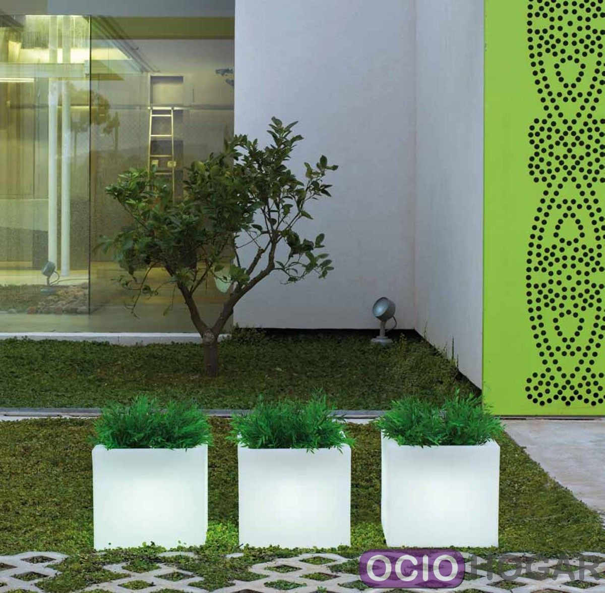 Maceta cubitera con luz narciso light new garden - Macetas con luz baratas ...