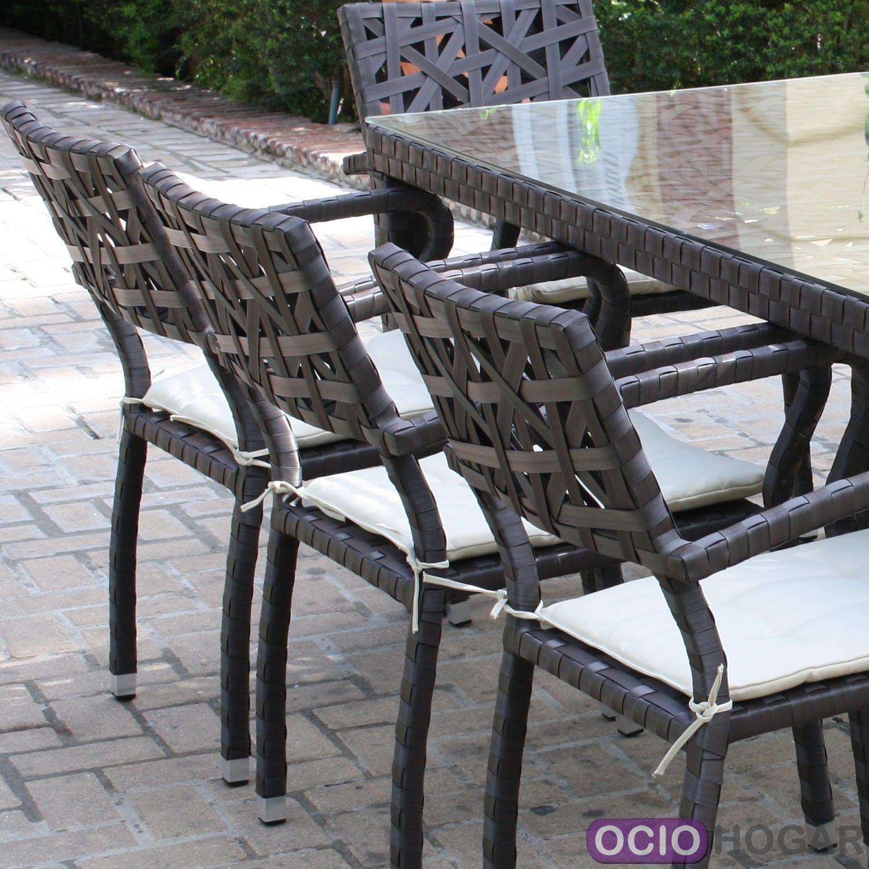 Mesa y sillas de jard n bucarest majestic garden detalle for Sillas y sillones de jardin