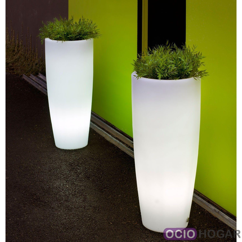 Maceta con luz bambu light new garden - Macetas con luz ...