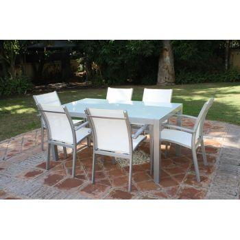 Mesa y sillas de jardín Cádiz