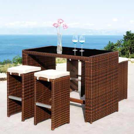 set de bar cheers mesa alta y taburetes de majestic garden. Black Bedroom Furniture Sets. Home Design Ideas