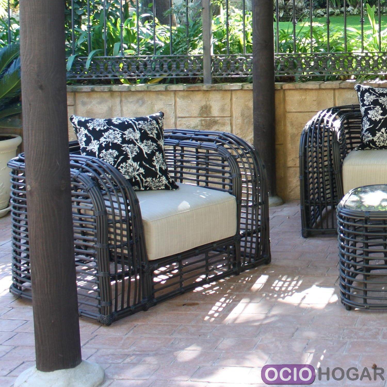 Conjunto exterior sof sillones y mesa saint tropez for Conjunto sillones exterior