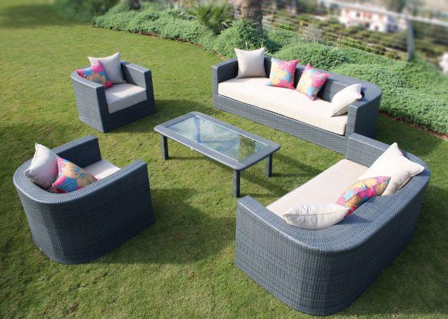 Conjunto de sofás y sillones de exterior Venus