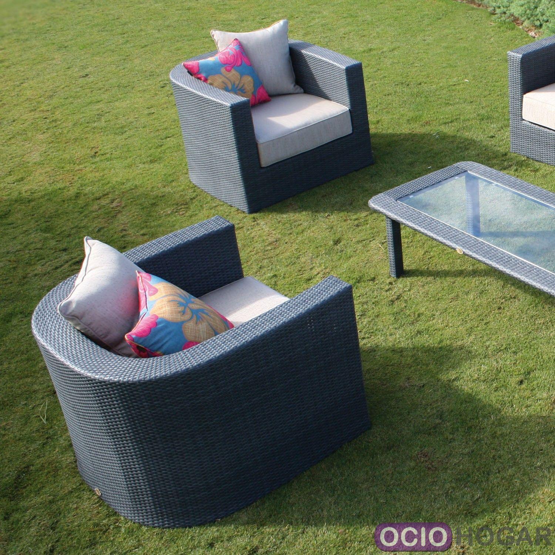 Conjunto exterior sof s sillones y mesa venus majestic for Conjunto jardin aluminio