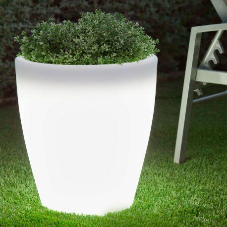 Maceta con luz Violeta Light de New Garden