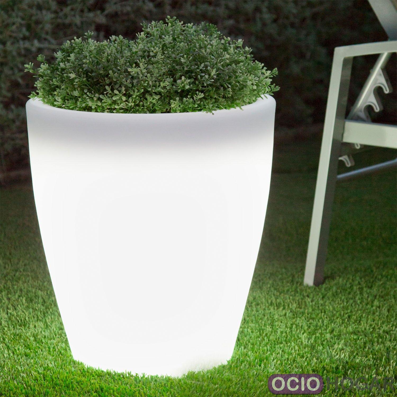 Maceta con luz violeta light new garden - Iluminacion jardin sin cables ...