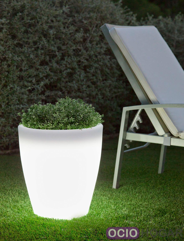 Maceta con luz violeta light new garden - Macetas con luz ...