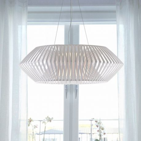 Lámpara de techo V VV04 de Arturo Álvarez. Grande. Blanca
