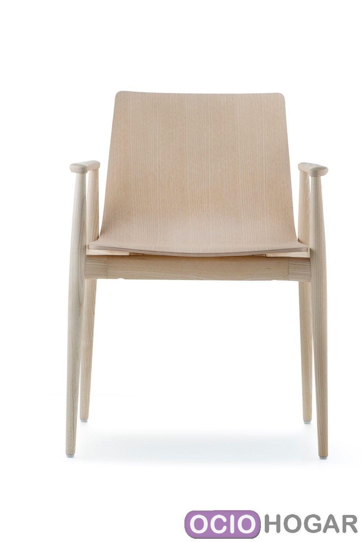 Sill n de madera malm 395 pedrali compra online en for Sillon comedor