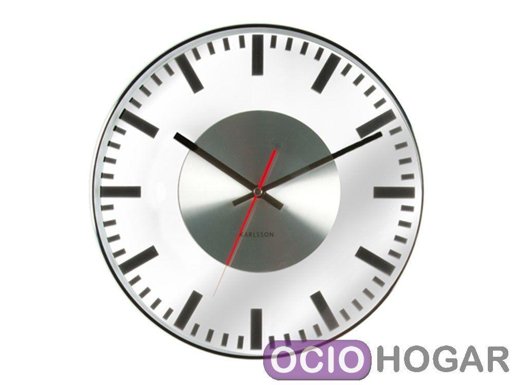Reloj de pared glass de present time relojes modernos - Relojes modernos de pared ...
