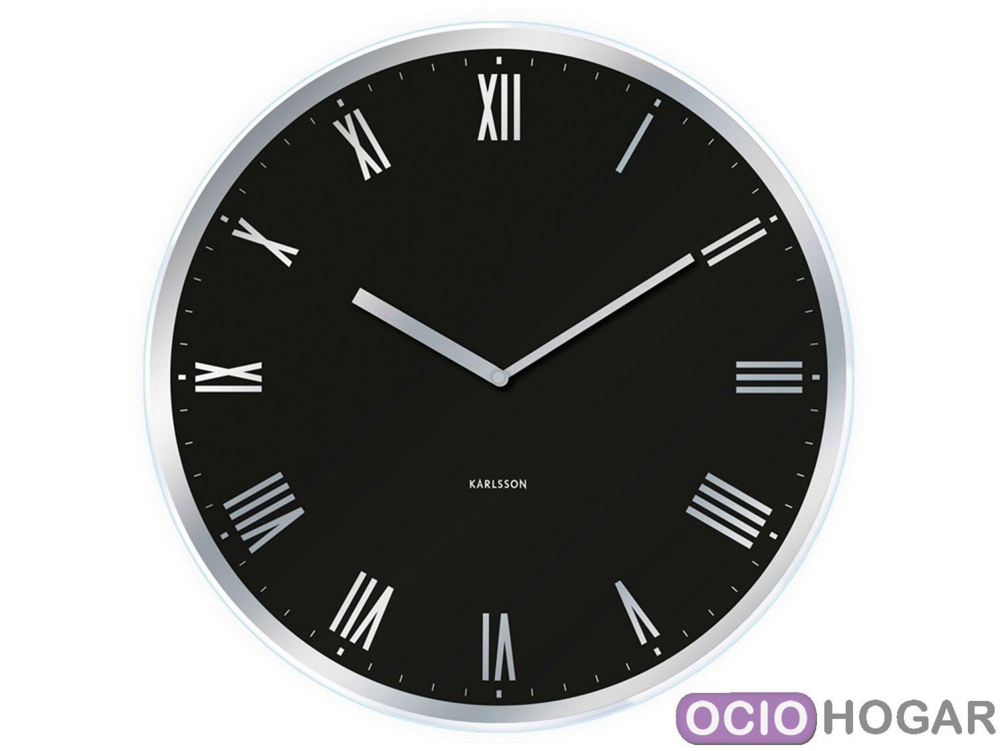Reloj de pared modern roman de present time relojes - Relojes de pared clasicos ...