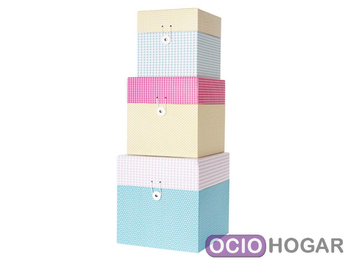 Cajas de almacenaje grid de present time dise o en - Caja de almacenaje ...