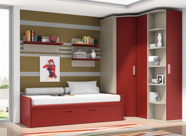 Dormitorio juvenil Red de Dissenia. Set completo